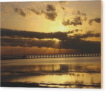 Wood Print featuring the photograph Spectacular Sunrise Two by Linda Cox