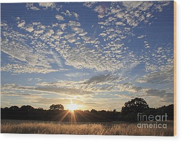 Spectacular Sunset England Wood Print
