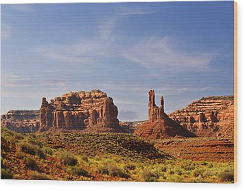 Spectacular Valley Of The Gods Wood Print by Christine Till