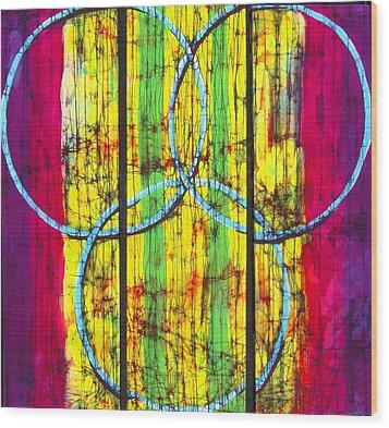 Spectrum Wood Print by Kay Shaffer