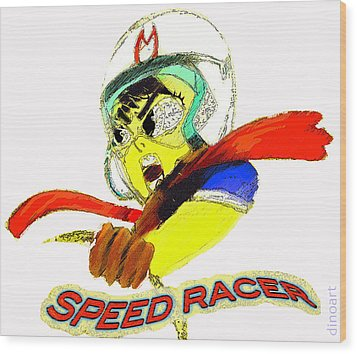 Speed Racer  Wood Print by Jazzboy