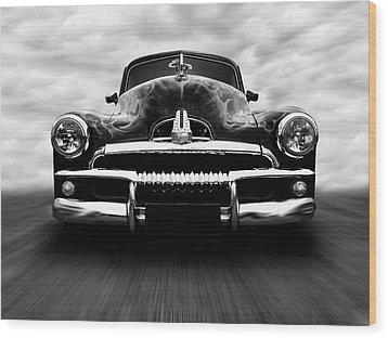 Speeding Fj Holden Wood Print by Keith Hawley