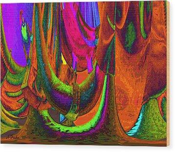 Spelunking On Venus Wood Print