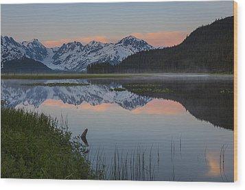 Spencer Galcier Sunrise Wood Print by Tim Grams