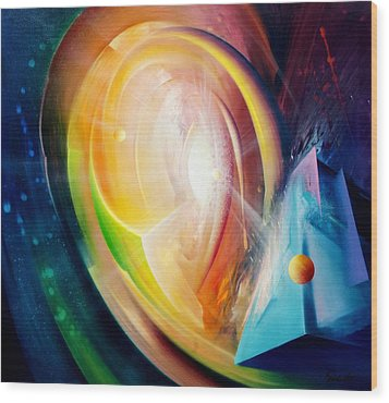 Sphere B11 Wood Print by Drazen Pavlovic