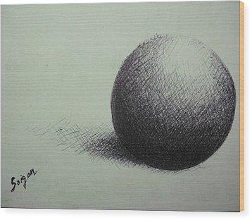 Sphere  Wood Print by SAIGON De Manila