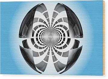 Wood Print featuring the digital art Spheroid by GJ Blackman