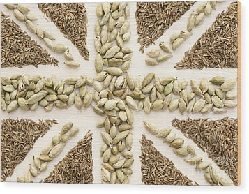 Spice Flag Wood Print by Anne Gilbert