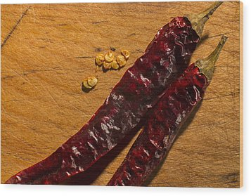 Spice It Up Wood Print by Andrew Pacheco