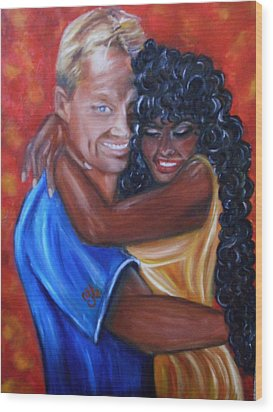 Spicy - Interracial Lovers Series Wood Print