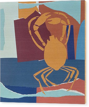 Spider Crab Wood Print by John Wallington
