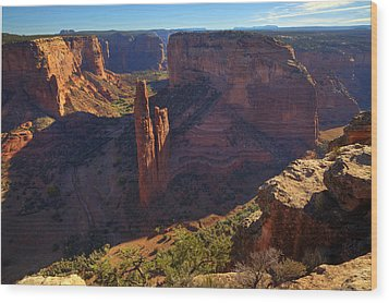 Wood Print featuring the photograph Spider Rock Sunrise by Alan Vance Ley