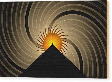 Wood Print featuring the digital art Spin Art by GJ Blackman