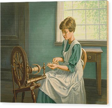Spinning At The Homestead Wood Print by Paul Krapf