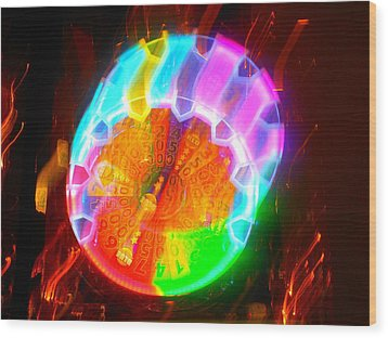 Spinning Orb In The Cosmos Wood Print by James Welch