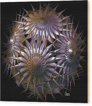Spiny Beauty Wood Print by Julie Grace