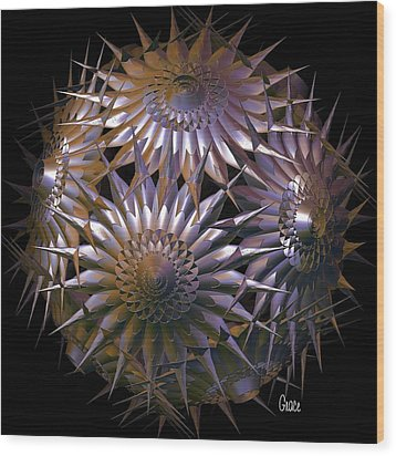Spiny Beauty Wood Print