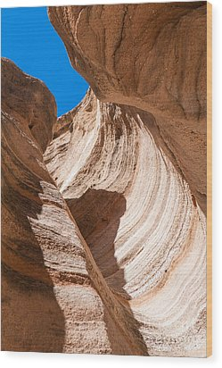 Spiral At Tent Rocks Wood Print by Roselynne Broussard