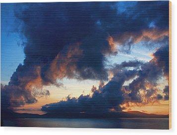 Spiral Clouds Wood Print by Aidan Moran