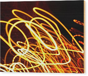 Spiral Light Among Dwellers About The City 2 Wood Print