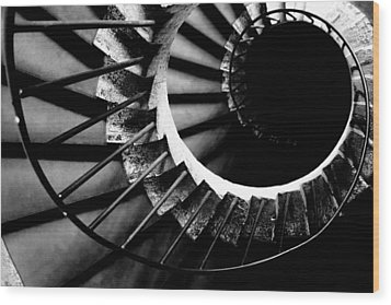 Spiral Staircase Wood Print by Fabrizio Troiani
