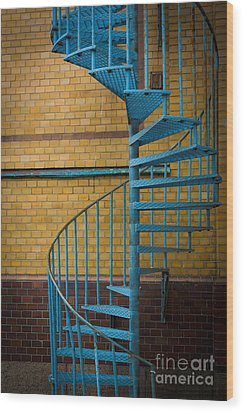 Spiral Staircase Wood Print by Inge Johnsson