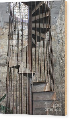 Spiral Staircase Wood Print by Sophie Vigneault