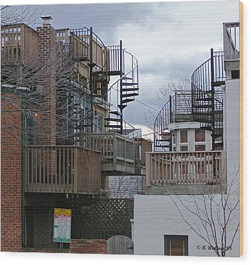 Wood Print featuring the photograph Spiral Stairs by Brian Wallace