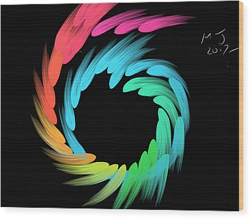 Spiralbow Wood Print by Michael Jordan