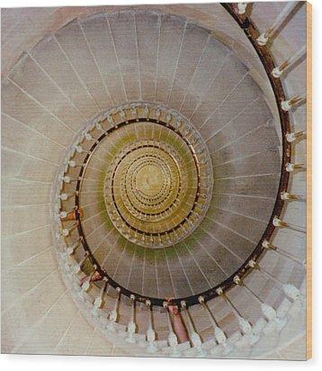 Spirale Du Phare Des Baleines Version Carree Wood Print