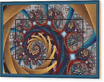 Spiraling Wood Print by Kim Redd