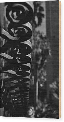 Spiraling  Wood Print by Tara Miller