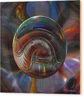Spiraling The Vatican Staircase Wood Print by Robin Moline