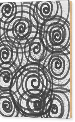 Spirals Of Love Wood Print by Daina White
