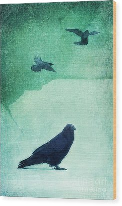 Spirit Bird Wood Print by Priska Wettstein