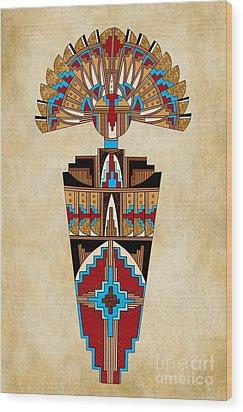 Spirit Chief Wood Print