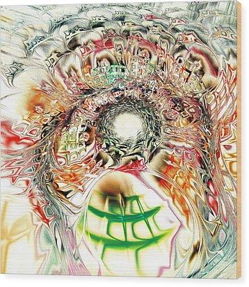 Spirit Crowd Wood Print by Anastasiya Malakhova