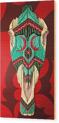 Wood Print featuring the painting Spirit  by Debbie Chamberlin