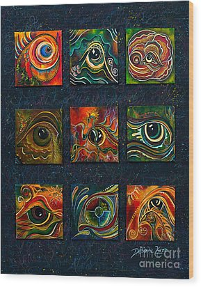 Spirit Eye Collection I Wood Print