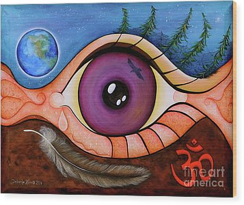 Spirit Eye Wood Print