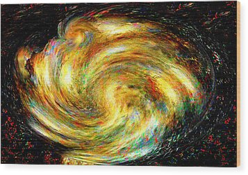 Spirit-fire Of Creation Bang Redemption Wood Print by Rebecca Phillips