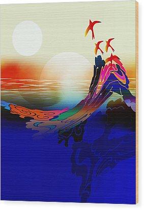 Spirit Flight Wood Print by Bruce Manaka