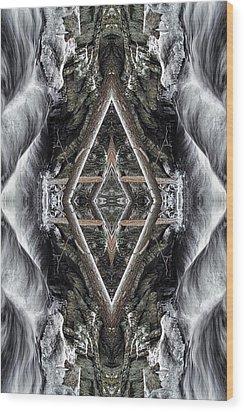 Spirit Gathering Wood Print by Dawn J Benko