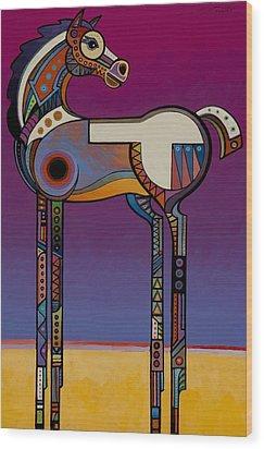 Spirit Horse Wood Print by Bob Coonts