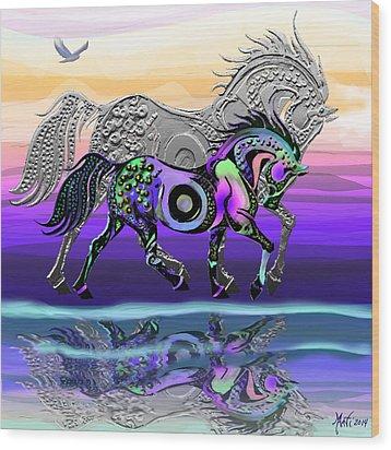 Spirit Horse Wood Print by Michele Avanti