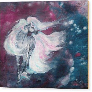 Spirit Horse Wood Print by Sherry Shipley