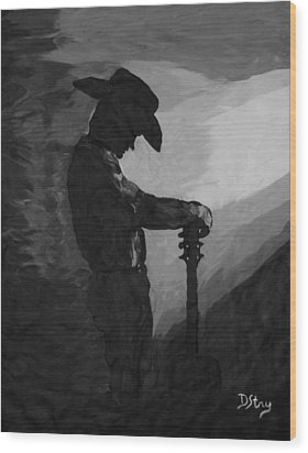 Spirit Of A Cowboy Wood Print