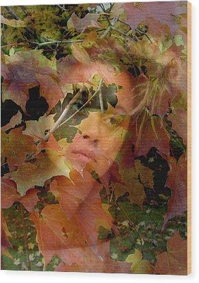 Spirit Of Autumn  Wood Print by Jodie Marie Anne Richardson Traugott          aka jm-ART