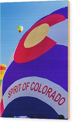 Spirit Of Colorado Proud Wood Print