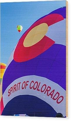 Spirit Of Colorado Proud Wood Print by Teri Virbickis